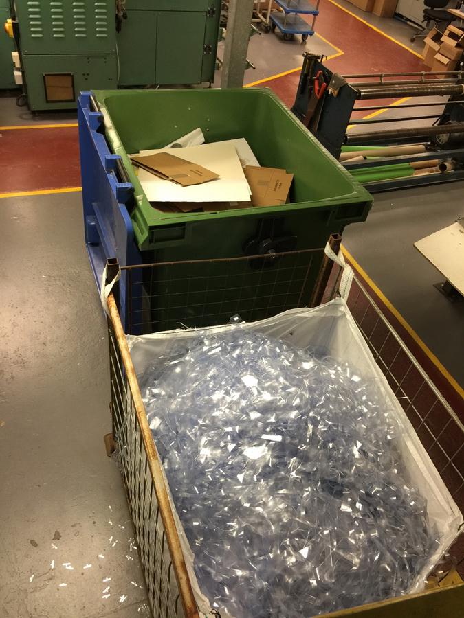 cardboard-&-clear-PVC-recycling-bins